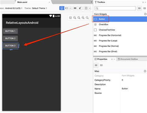 Xamarin Layout Folders | add a relative layout to an android screen in xamarin