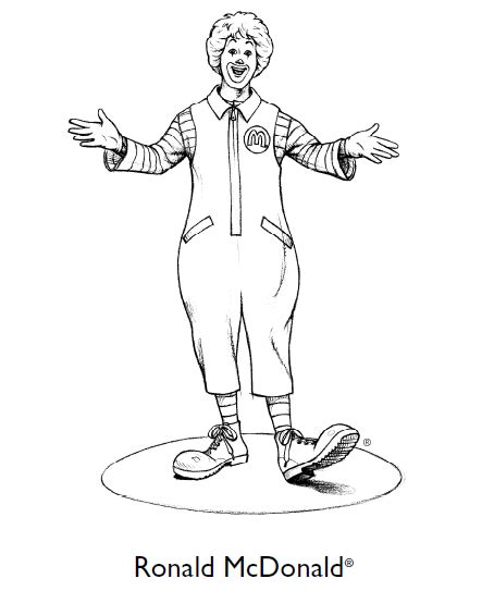 mcdonalds colouring sheet coloring pages photos where s