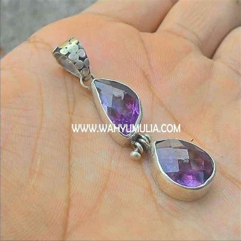 liontin batu kecubung ungu amethyst kode 296 wahyu mulia