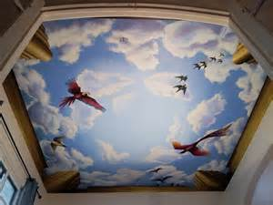l murals ceiling mural with birds chicago il