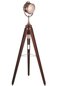 Ansel tripod brown floor lamp fischer gambino