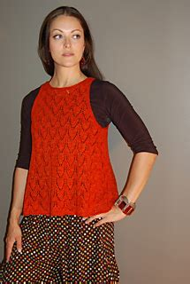 Pattern Panel A Line Top ravelry back panel a line top pattern by sally melville