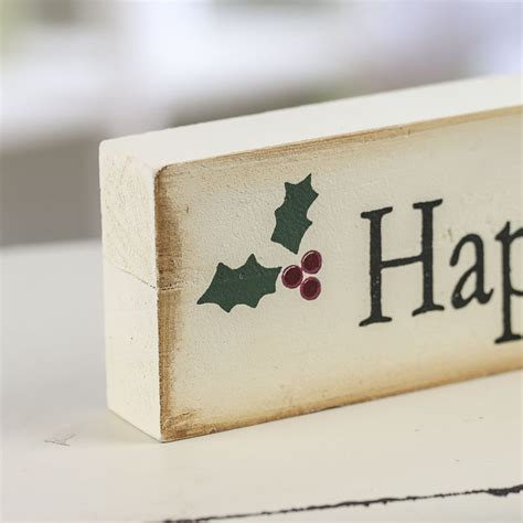 Shelf Sign by Quot Happy Holidays Quot Wood Shelf Sitter Sign Signs Ornaments Home Decor Wedding Supplies