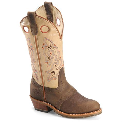 womans western boots s h 174 12 quot domestic toe ice buckaroo