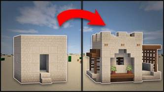 minecraft how to remodel a desert small house