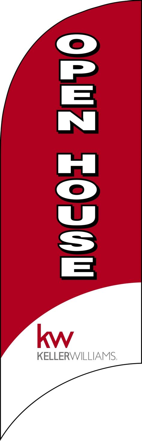 open house flags keller williams real estate open house feather flag only 7 foot 28f282 300 lowen