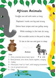 african animals poem free early years amp primary teaching
