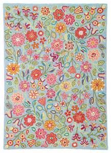 Kid Rug Company C Wool Rug April Blooms Eclectic Rugs