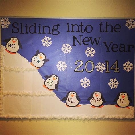 new year classroom ideas sliding into the new year 2014 bulletin board