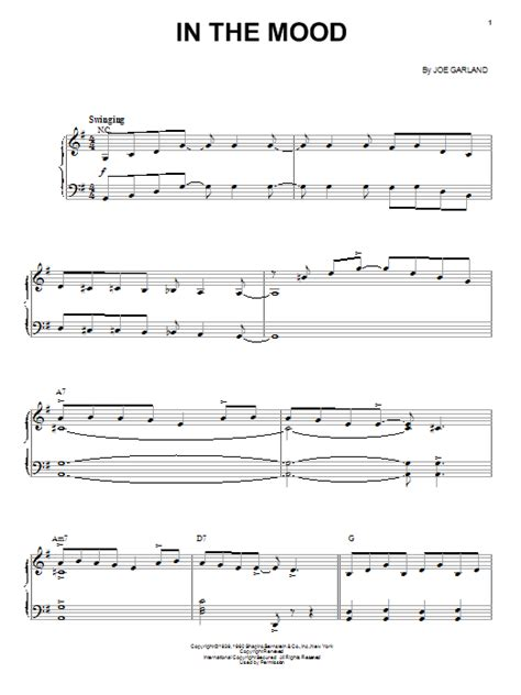 tutorial piano in the mood in the mood sheet music by ernie field s orchestra piano