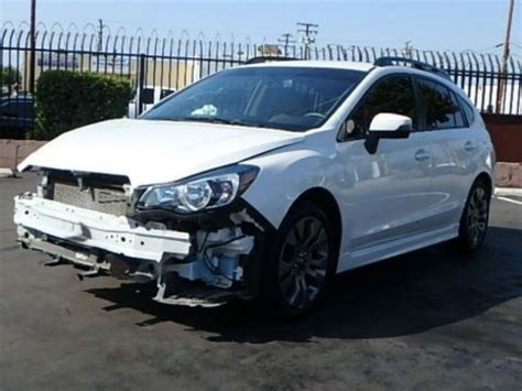 wrecked subaru for sale 2016 subaru wrecked sport cars for sale