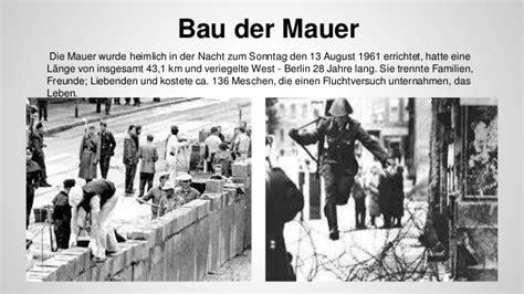 wann begann der bau der berliner mauer diie berliner mauer