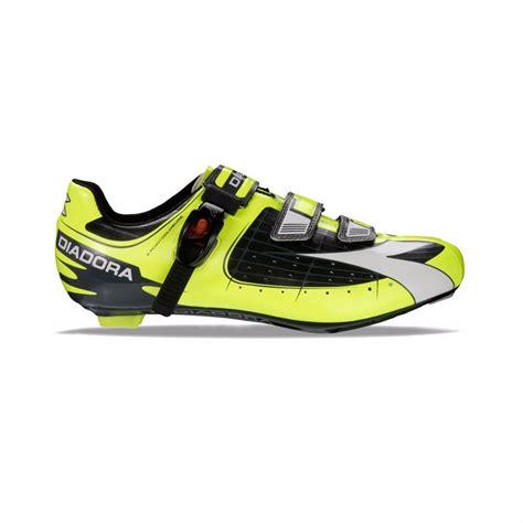 diadora road bike shoes diadora tornado s road cycling shoe black yellow white
