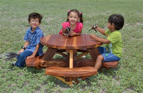 toddler picnic table with umbrella wooden picnic table kit for toddlers forever redwood