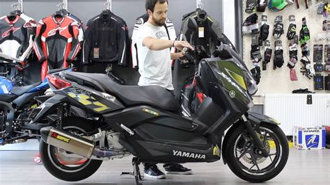 yamaha xmax  abs  akrapovic egzoz motodium youtube