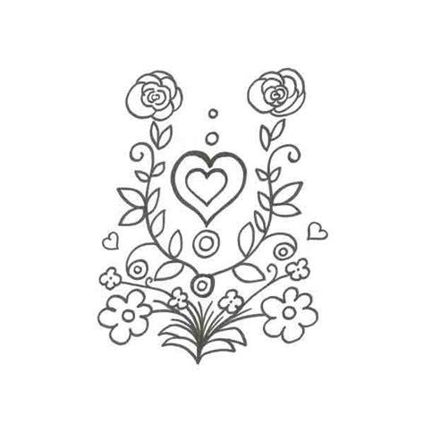 imagenes de rosas y corazones para colorear flores con corazones para colorear e imprimir