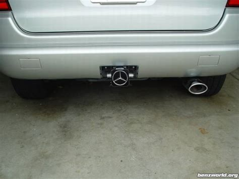 mercedes hitch cover chrome plated tow hitch mbworld org forums