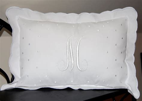 Baby Pillow Monogrammed by Monogrammed Scalloped Baby Pillow Featured At Babybox