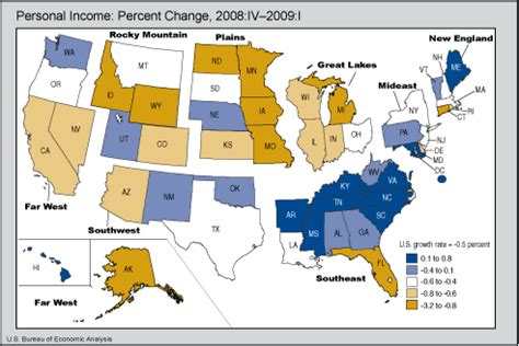 us bureau of economic analysis bea release state personal income quarter 2009