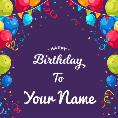 Birthday Card With Name write your name on birthday cards