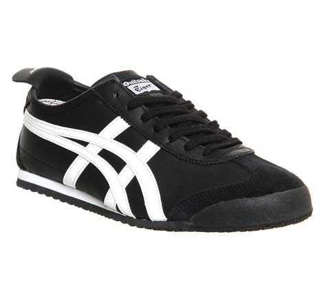 Onitsuka Tiger Mexico66 Black onitsuka tiger mexico 66 black white unisex sports