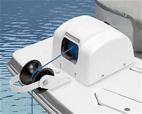 electric boat anchor winch ebay trac big water 45 electric pontoon deck boat anchor winch