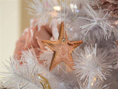rose gold christmas lights white christmas tree with stylish rose gold and pink