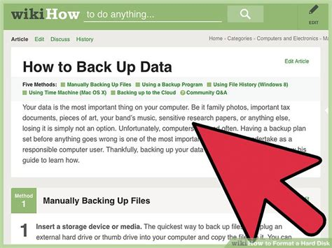 format hard disk steps 5 easy ways to format a hard disk wikihow