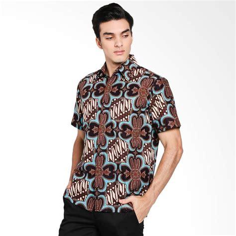 Kemeja Lengan Pendek Pria Brown jual amanda raisa batik iwan tirta kotak kemeja batik pria