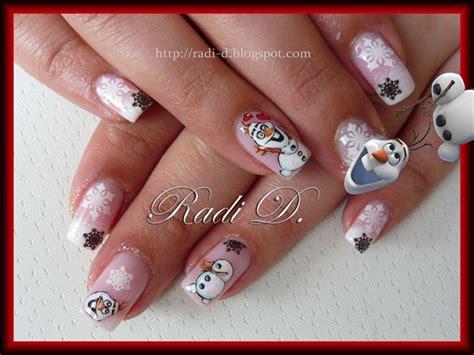 nail art olaf tutorial frozen s olaf nail art gallery