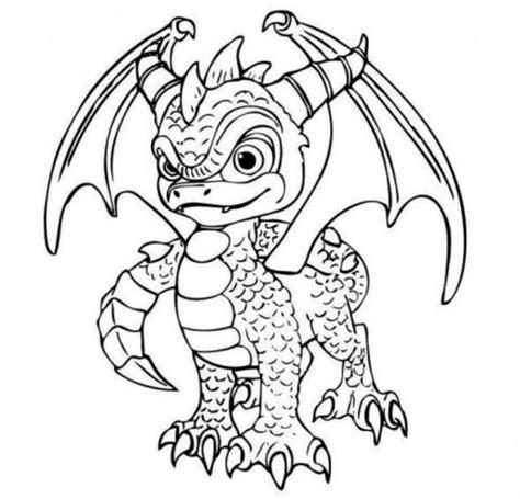 skylander dragon coloring page kleurplaat spyro 365kidz