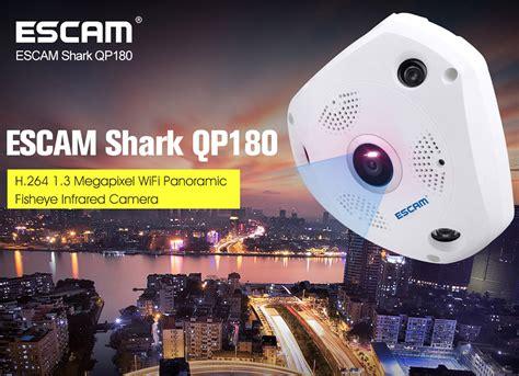 Kualitas Terbaik Cctv Ip Wifi Vr View 360 Derajat Hd 3mp escam shark qp180 panoramic ip cctv cmos 960p white jakartanotebook