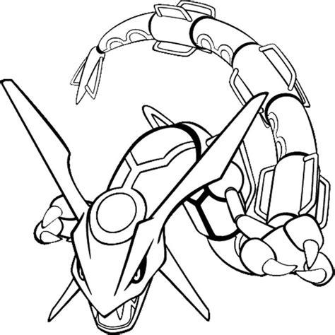 Legendary Pokemon Coloring Pages Rayquaza | pokemon rayquaza pokemon coloring pages pinterest