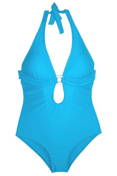 beach style halter top  ring keyhole  piece swim wear  sexy  piece swimsuitssexy