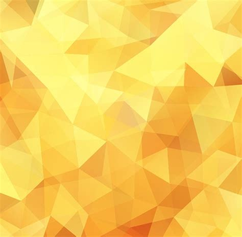 yellow pattern background vector yellow low poly design abstract background vector
