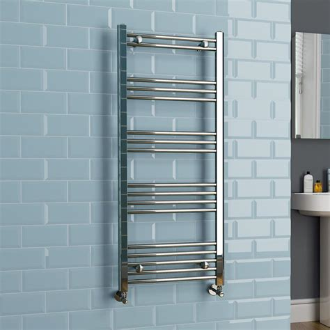 bathroom towel rads straight modern chrome heated bathroom towel rail radiator