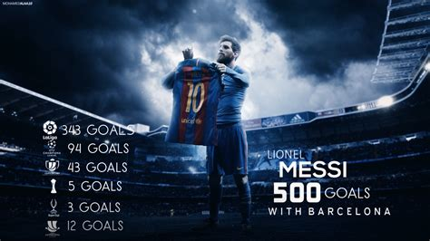 messi best wallpaper lionel messi 500 goals wallpaper by mohamedalaagfx on