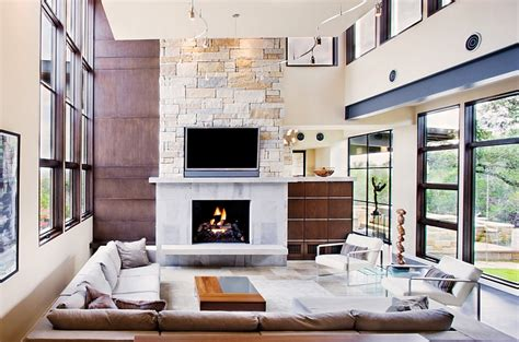 contemporary modern fireplace designs  tv  mantel