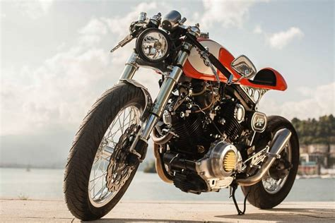 yamaha xv 750 orange project plan b motorcycles