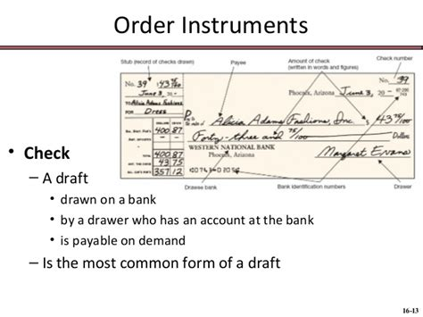Refer To Drawer Cheque by 116 Chap016 Negotiable Instruments