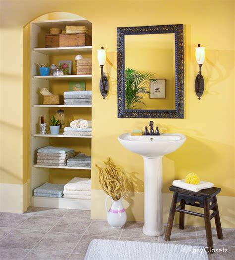 bathroom closet shelving by easyclosets