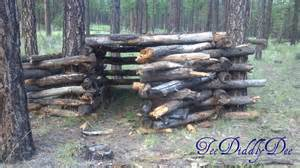 Build A Ground Blind How To Build A Log Fort Clubhouse Cabin In The Woods
