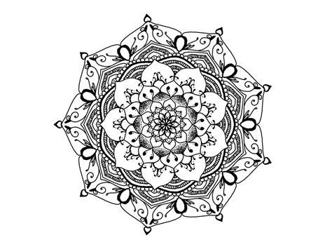 free illustration mandala black and white zendala