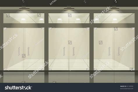 Shop Front Windows And Doors Shop Glass Windows Doors Front View 스톡 벡터 91139765