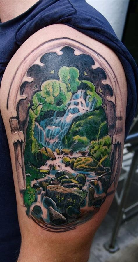 waterfall tattoos 1000 ideas about waterfall on forest