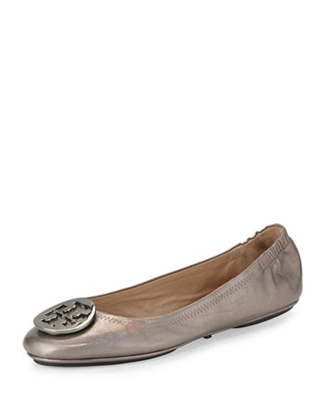 Minnie Travel Flat 2 burch minnie travel ballet flat gunmetal