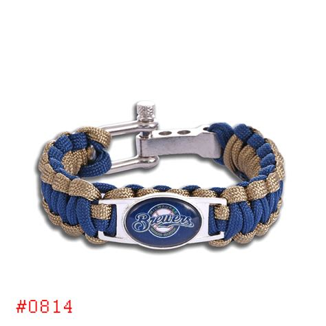 6pcs lot milwaukee brewers custom paracord bracelet mlb