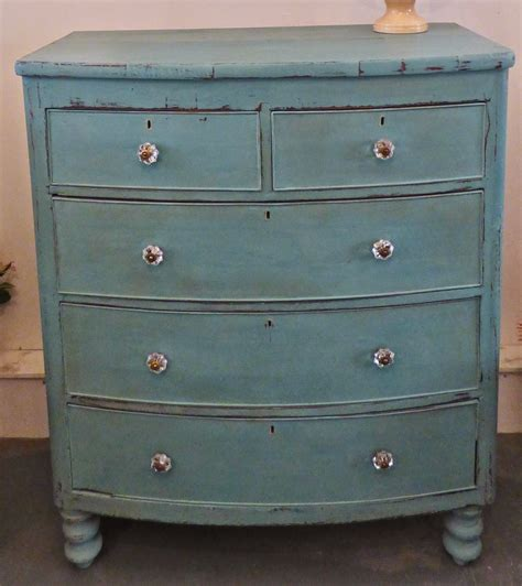 Antique Painted Chest Of Drawers by Chouchou Vintage Chippy Shabby Antique Mahogany Painted