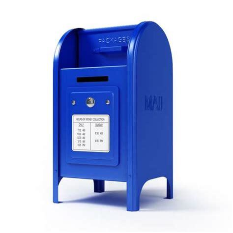 Us Post Office Box by 3d United States Post Office Box Cgtrader