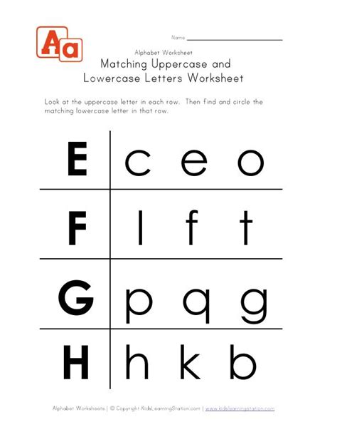 printable alphabet letters uppercase and lowercase alphabet worksheets for preschoolers view and print this